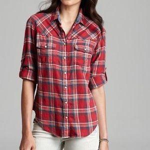 Jachs Girlfriend plaid button down shirt flannel